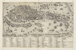 Map of Venice, 1566. (Bertelli, 1566)