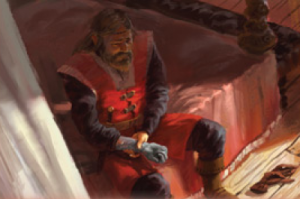 Jon Connington contemplating his greyscale