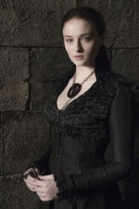 """In HBO's """"Game of Thrones,"""" the evolution of Sansa's character is externalized through her clothing and hair style."""