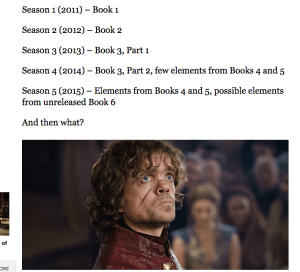 Fig. 6 Book to TV show season schedule.