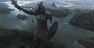 The Titan of Braavos and the city from HBO Game of Thrones