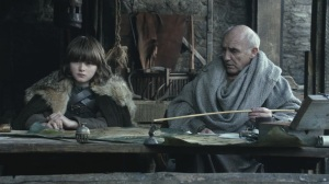 Bran goes over the various noble houses and their family saying with Maester Luwin.