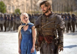Daenerys and Daario Naharis.