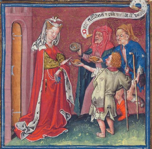 Image result for medieval almsgiving