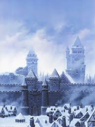 Winterfell, as depicted in The World of Ice and Fire.