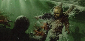 Tyrion being rescued by Jon from the Stone Men