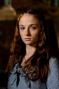 Sansa, looking sad as she sees into her future.