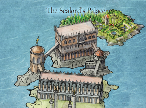 """The Sealord's Palace, from The Lands of Ice and Fire, """"Braavos"""""""