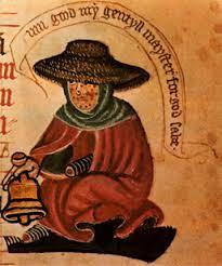A Medieval depiction of a Leper