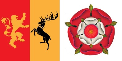 Joffrey Baratheon's personal sigil and The Tudor Rose