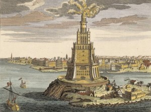 The Lighthouse of Alexandria, on Pharos.